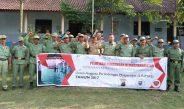 Polsek Tuntang Gelar Pelatihan Trantibmas Anggota Linmas Desa Gedangan