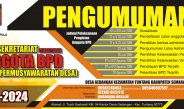PENGUMUMAN Pengisian anggota BPD