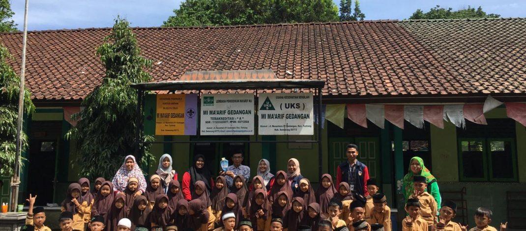 Mahasiswa KKN UPGRIS 2020 Gedangan – Tuntang Mengadakan Sosialisasi PHBS di MI Ma'arif Gedangan